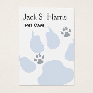 Empreintes de pattes animaux de chat de chien de cartes de visite