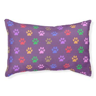 Empreintes de pattes colorés lit pour chien