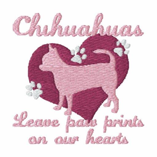 Empreintes de pattes de congé de chiwawas