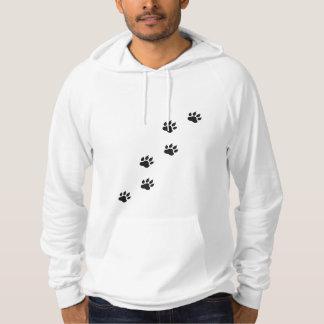 Empreintes de pattes d'un chat pull à capuche