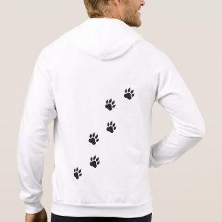 Empreintes de pattes d'un chat veste à capuche