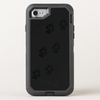 Empreintes de pattes d'un chien coque otterbox defender pour iPhone 7