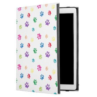 """Empreintes de pattes peints par arc-en-ciel iPad pro 12.9"""" case"""