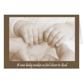 Empreintes digitales de carte de bébé de Dieu