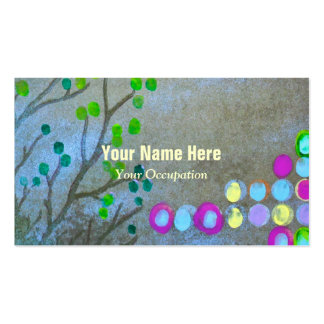 Empreintes digitales et brindilles carte de visite