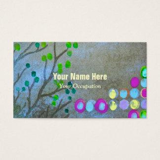 Empreintes digitales et brindilles cartes de visite