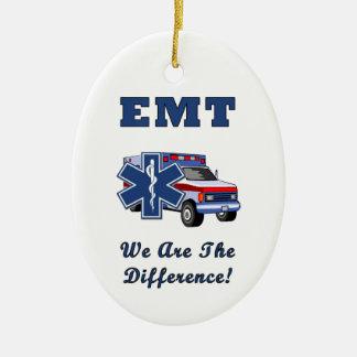 EMT nous sommes la différence Ornement Ovale En Céramique