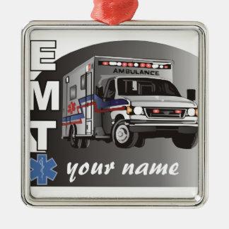 EMT personnalisé Ornement Carré Argenté