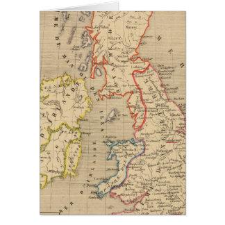 En 1100 d'Angleterre, d'Ecosse, d'Irlande et Carte De Vœux