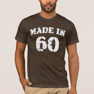 En 1960 chemise faite t-shirt