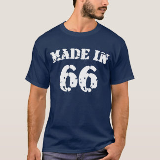 En 1966 chemise faite t-shirt