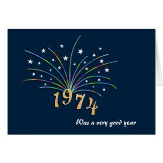 En 1974 carte de voeux soutenue d'anniversaire