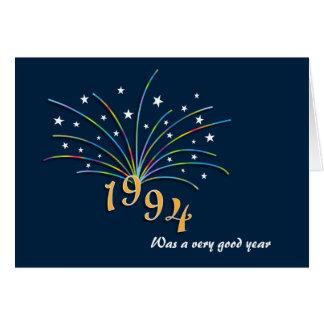 En 1994 carte de voeux soutenue d'anniversaire