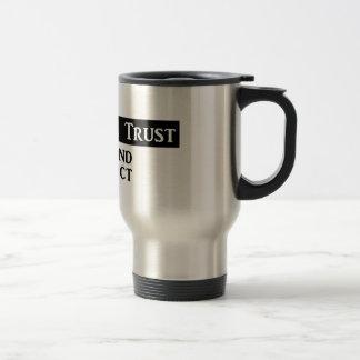 """'En brouillard nous faisons confiance"""" - à la Mug De Voyage"""