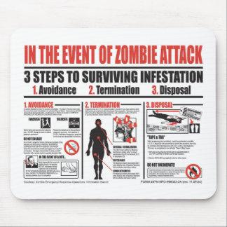 En cas du TAPIS DE SOURIS d'attaque de zombi