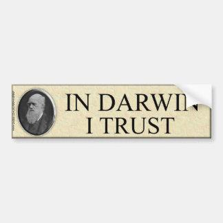 EN CONFIANCE DE DARWIN I AUTOCOLLANT POUR VOITURE