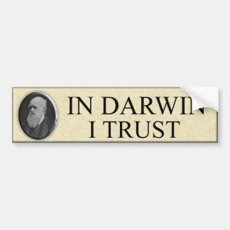 EN CONFIANCE DE DARWIN I ADHÉSIF POUR VOITURE