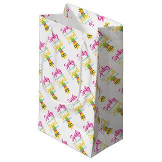 En épi sur le bonbon à extérieur dessus à petit sac cadeau