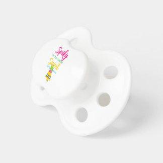 En épi sur le bonbon à extérieur sur l'intérieur sucettes pour bébé