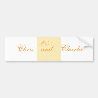 En épousant la cérémonie stationnaire et civile cu autocollant pour voiture