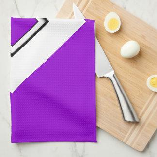 En lettres supérieur violet foncé linges de cuisine