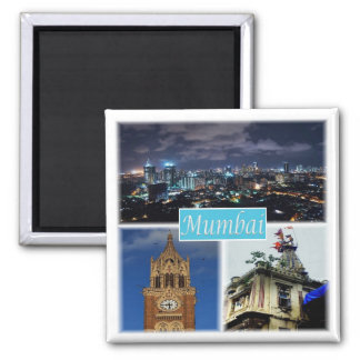 EN * l'Inde - le Mumbai Bombay Magnet Carré