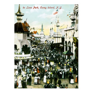 En Luna Park, Coney Island, New York Carte Postale