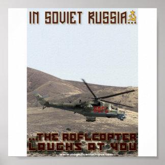 En Russie soviétique… le Roflcopter rit de vous ! Affiche