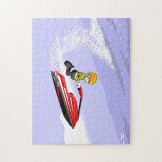 En sautant sur les vagues dans un Jet Ski Puzzles