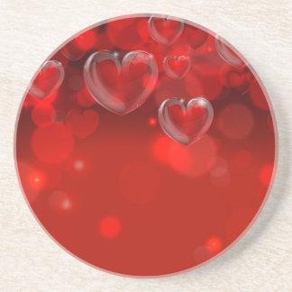 En-tête d'arrière - plan de jour de Valentines Dessous De Verres