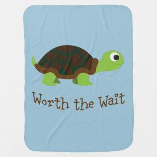 En valeur la tortue d'attente couvertures de bébé