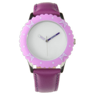 Encadrement réglable, montre pourpre d'acier montres