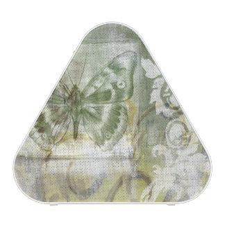 Encart vert de papillon avec la porte de haut-parleur bluetooth