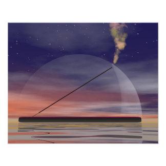 Encens par nuit prospectus 11,4 cm x 14,2 cm