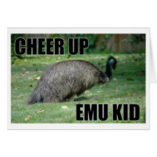 Encouragez la carte d'enfant d'émeu