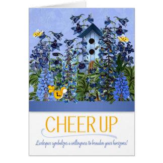 Encouragez le jardin bleu de pied-d'alouette avec cartes