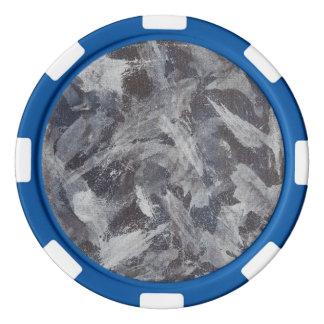 Encre blanche sur Brown et arrière - plan bleu Rouleau De Jetons De Poker