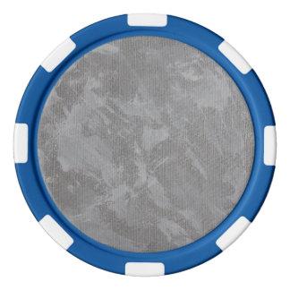 Encre blanche sur l'arrière - plan argenté jetons de poker