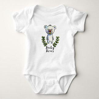 Encre d'ours de bébé et illustration d'aquarelle body