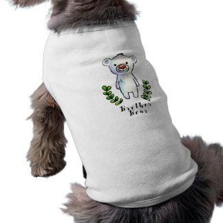 Encre d'ours de frère et illustration d'aquarelle t-shirt pour chien