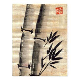 Encre en bambou sur la carte postale de papyrus