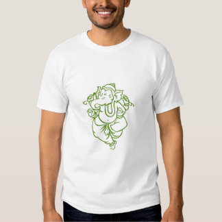 Encre stellaire Ganesh-Verte T-shirt