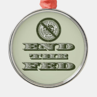 End the Fed Federal Reserve Libertarian Christmas Ornaments