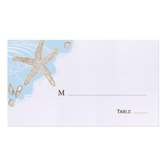 Endroit de Tableau de mariage de coquillage/carte  Modèles De Cartes De Visite