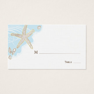 Endroit de Tableau de mariage de coquillage/carte Cartes De Visite