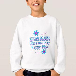 Endroit heureux de danse carrée sweatshirt