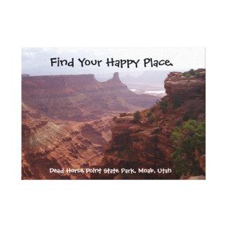 Endroit heureux Utah Toiles