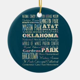 Endroits célèbres de l'Oklahoma, Etats-Unis. Ornement Rond En Céramique