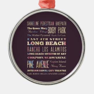 Endroits célèbres de Long Beach, la Californie Ornement De Noël