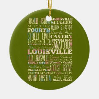 Endroits célèbres de Louisville, Kentucky Décoration Pour Sapin De Noël